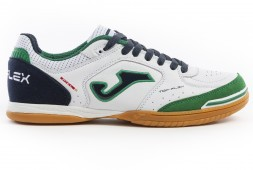 Футзалки JOMA TOP FLEX 932 BLANCO-VERDE INDOOR (артикул: TOPW.932.IN) (белые)