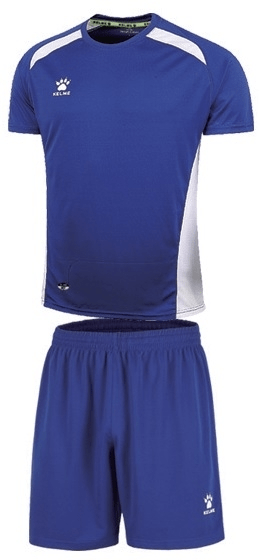 Форма футбольная Kelme SPORTSLEEVE FOOT SET, синий